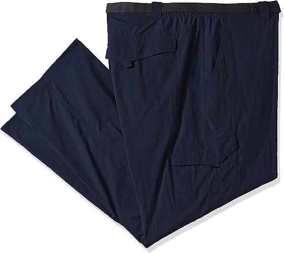 Columbia Men's Big-Tall argent Ridge Cargo Pants, Cypress Valencia, 50 x 34