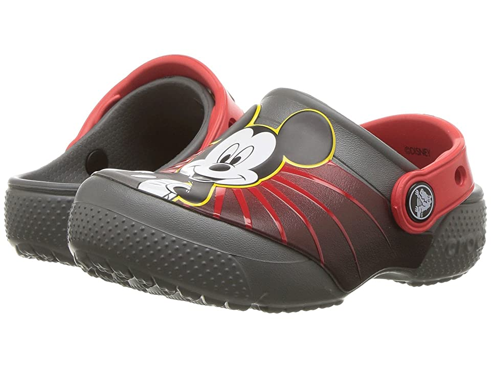 Crocs Kids Fun Lab Mickey 90th Clog (Toddler/Little Kid) (Slate Grey) Boys Shoes