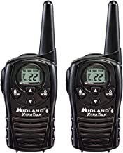 Midland - LXT118, FRS Walkie Talkies with Channel Scan - Up to 18 Mile Range Two Way Radio, Hands-Free VOX, Water Resistant (Pair Pack) (Black)