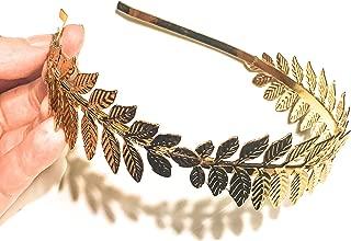 Roman Emperor Crown Laurel Wreath Gold Leaf Headband Toga Costume Accessory Caesar Circlet Wedding Headpiece