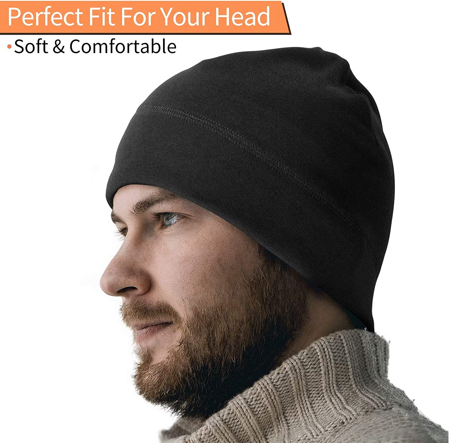 Banydoll Winter/Fleece/Beanie/Hat,/Running/Hat,/Multifunctional/Warm/Knitted/Beanie/Cap/Outdoor/Windproof/Sports/Beanie/Hat/for/Adults/Women/and/Men/Un