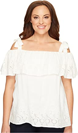 Lucky Brand - Plus Size Eyelet Off the Shoulder Top