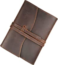 Leather Journal Refillable A6 Lined Writing Notebook Genuine Leather Rustic Binder Small Journal Gift