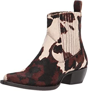 Frye Women's Sacha Chelsea Western Boot, Cream/Brown, 7.5