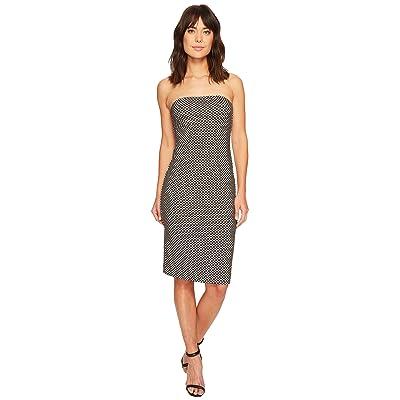 Nicole Miller Strapless Tube Dress (Black/White) Women