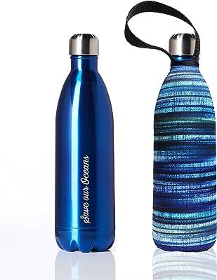 bbbyo* Future Bottle 1000ml 保温 保冷 水筒 ステンレスボトル BLUE ブルー ※ボトルのみ (カバー無し)