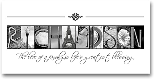 Personalized Housewarming gift, Family Name Sign, Realtor's Gift, Alphabet Photography Sign, Creative Letter Art, Cus...