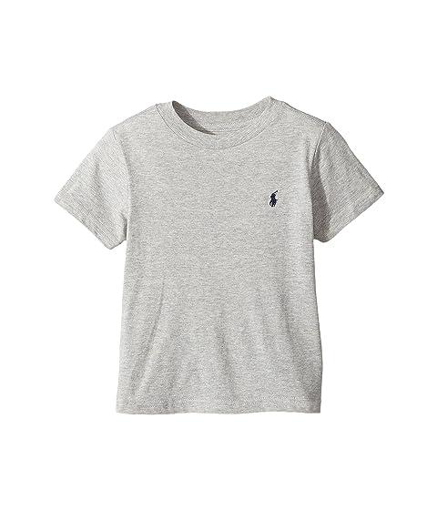 Polo Ralph Lauren Kids Cotton Jersey Crew Neck T-Shirt (Toddler) at ... 2f47dc9dcfb3