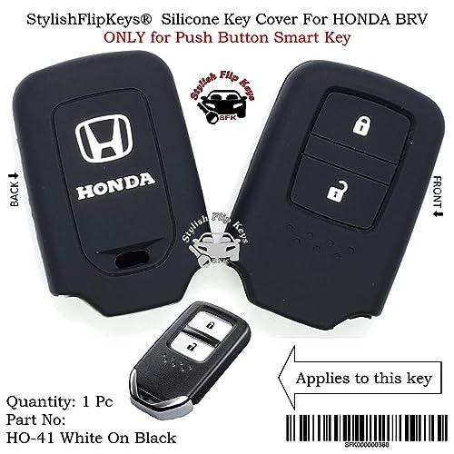 Sfk Silicone Remote Key Cover For Honda City / Civic / Jazz / Mobileo / Amaze / Crv / Brio