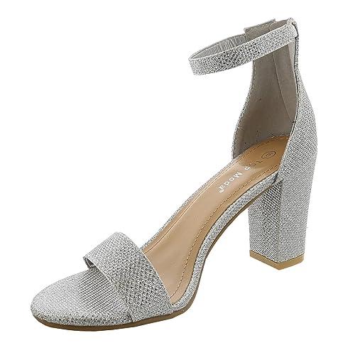 54e6374ff43ef Silver Evening Shoes: Amazon.com