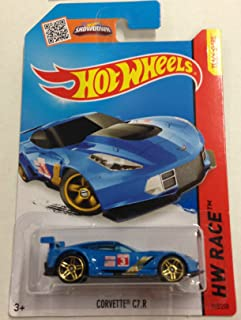 Hot Wheels, 2015 HW Race, Corvette C7.R [Blue] 155/250