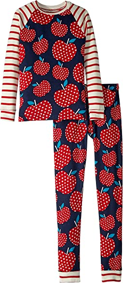 Polka Dots Apples Organic Cotton Pajama Set (Toddler/Little Kids/Big Kids)