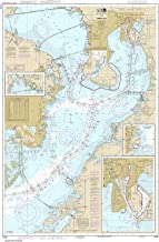 Paradise Cay Publications NOAA Chart 11416: Tampa Bay; Safety Harbor; St. Petersburg; Tampa, 34.3 X 51.7, TRADITIONAL PAPER