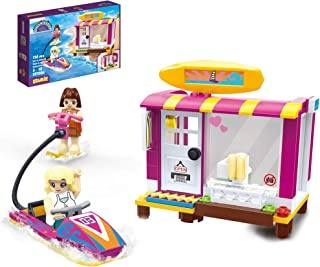 EDUKiE Girls Building Sets Cruise Ship Toy 118 Pieces Creative Building Blocks Yacht Boat Role-Play Building Kit Xmas Gift for Kids Aged 5 and Up