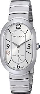 Philip Stein Women's Modern Swiss-Quartz Watch with Stainless-Steel Strap, Silver, 14 (Model: 74-FW-MSS)