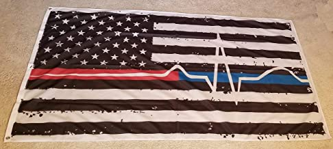 Back The Red & Blue Nylon Flag - Thin Blue/Red Line flag EMS 3' x 5' Polyester material