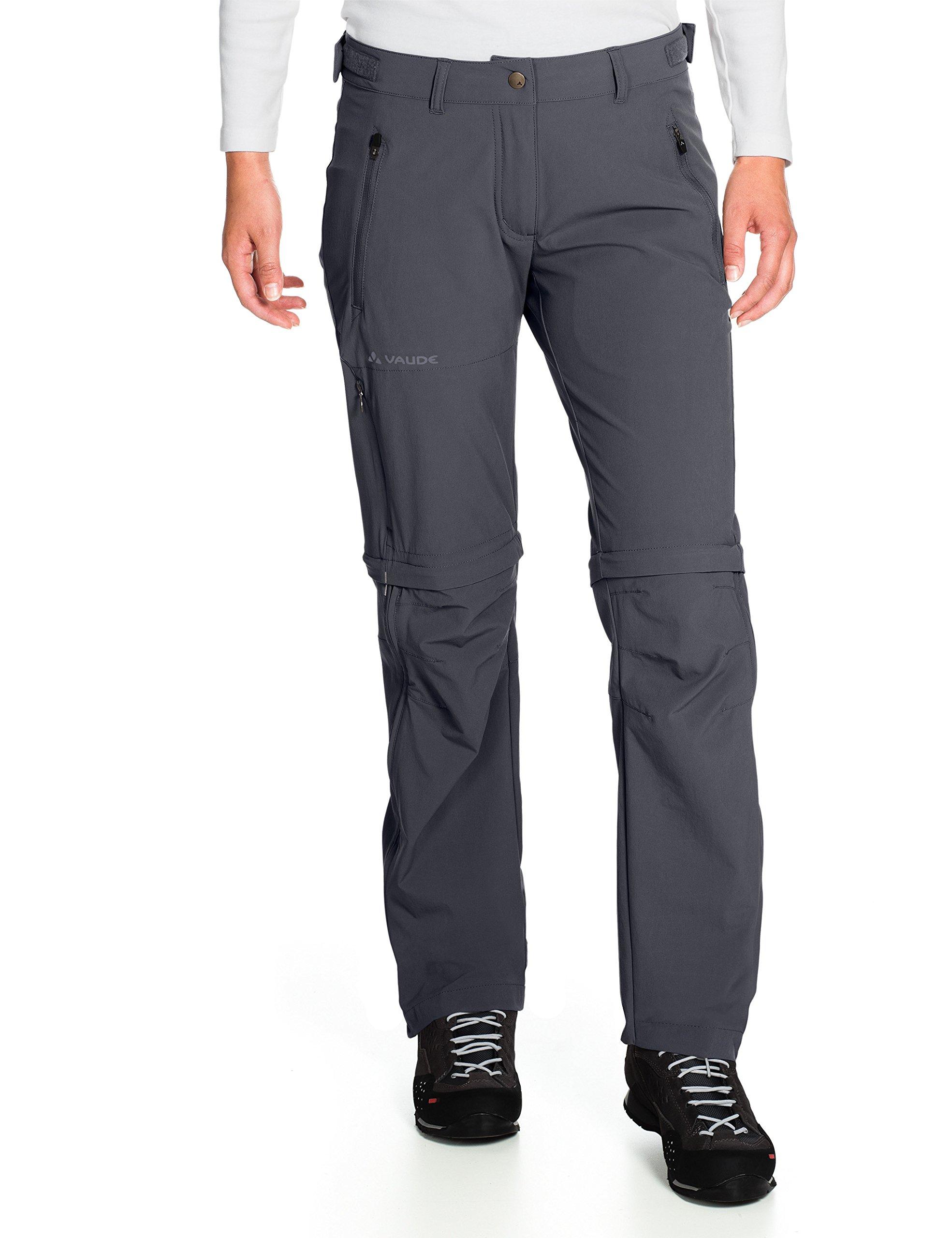VAUDE Farley Zip Off T-Zip Pantalon Stretch pour Femme avec Bas des Jambes Amovible