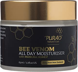 BEE Venom Natural All Day Face Moisturiser Creme with Active Manuka Honey for face-neck-eyes 65ml
