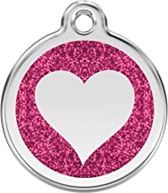 Red Dingo Personalized Heart Paw Pet ID Dog Tag