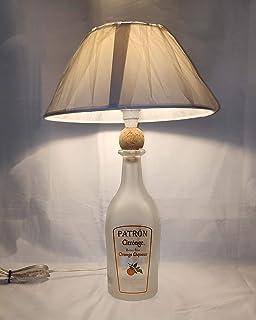 Lampada arredo da tavolo bottiglia vuota Patron CITRONGE arredo abat jour riciclo creativo riuso idea regalo
