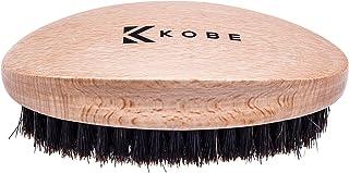 Kobe Palm - Cepillo militar de madera para el cabello y la barba para hombre, herramienta de aseo de tamaño manual con cerdas naturales de jabalí para cabello y barba