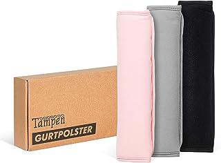 Tampen Gurtpolster Set  2 Stück  für Erwachsene und Kinder  hochwertig verarbeitet  universelle Größe  Maschinenwaschbar  Doppelpack  Rosa