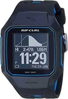 Rip Curl Men's 'SearchGPS' Quartz Plastic and Polyurethane Sport Watch, Color:Black (Model: A1144-BLU
