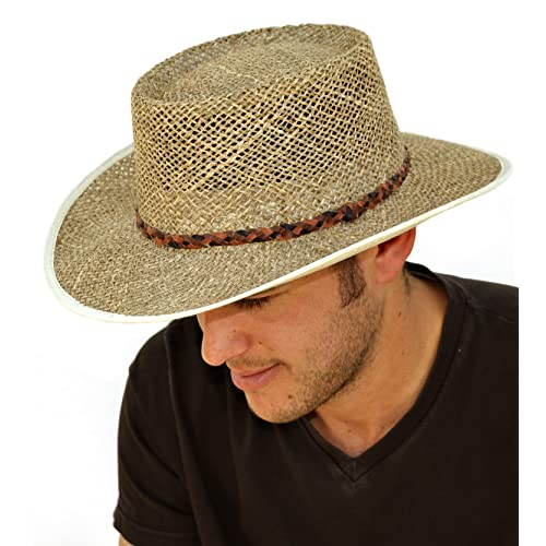 c71decbe318 Mens Greg Norman Style Seagrass Straw Summer Hat S19