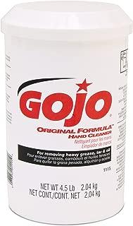 Gojo 1115-06 ORIGINAL FORMULA Hand Cleaner - 4.5-Pound Cartridge, (Pack of 6)