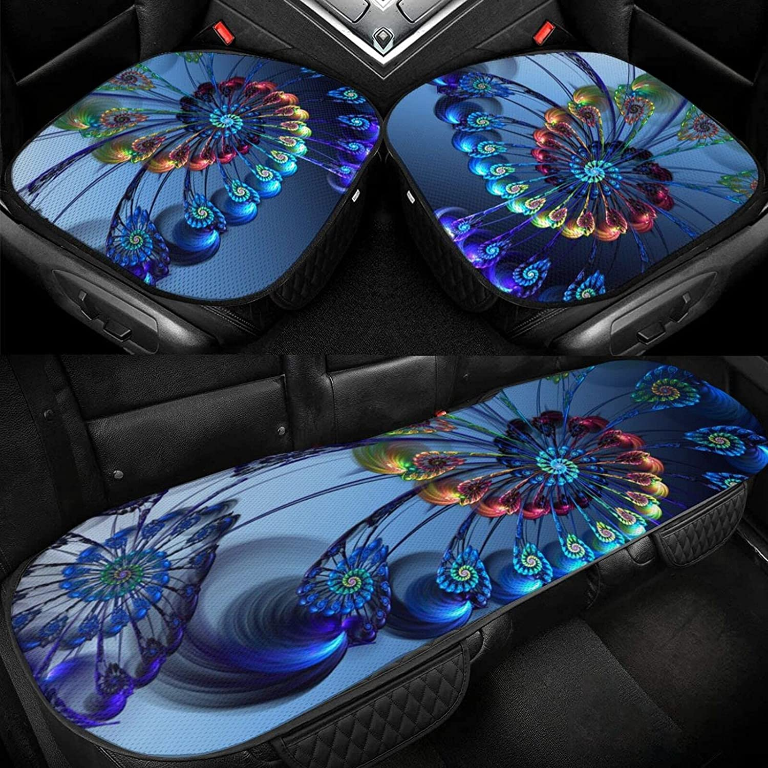 Beautiful Quality inspection Peacock Feather Sale Car Seat Ice Silk Driver Cushion