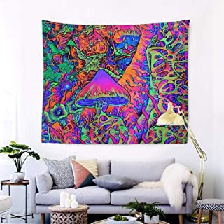 RegiDreae Trippy Tapestry Psychedelic Tapestry Smoke Mushrooms Hippie Tapestry Wall Hanging for Living Room Bedroom Home Decor(60x51)