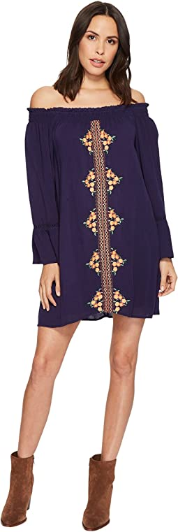 Miss Me - Off the Shoulder Bell Sleeve Dress