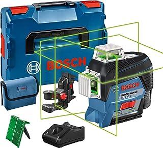 Bosch Professional 12V System linjelaser GLL 3-80 CG (1x batteri 12V, grön laser, inomhus, med appfunktion, fäste, arbets...