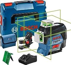 Bosch Professional 0601063T00 GLL 3-80 CG, Nivel láser verde, conexión Bluetooth, soporte, gama de trabajo hasta 30m, 1 b...