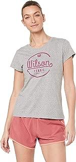 Wilson Women`s Lineage Tech Tennis Tee Heather Grey and Plum ()
