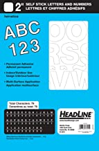 Headline Sign - Stick-On Vinyl Letters and Numbers, Permanent and Waterproof, Indoor and Outdoor Use, White, 2-Inch (31212)