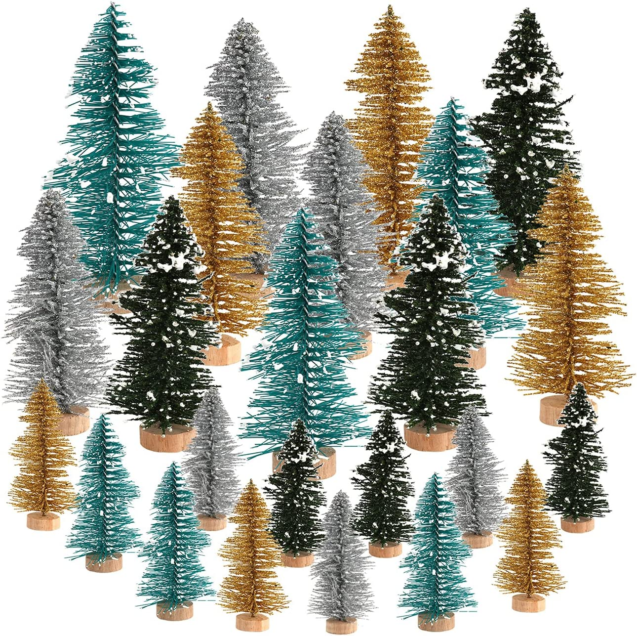 Atroy 48 PCS Mini Christmas Trees Financial sales sale Multicolor Artificial Sisal Financial sales sale S
