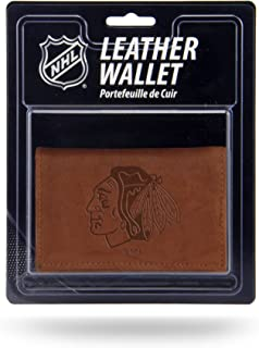 NHL Leather Trifold Wallet with Man Made Interior