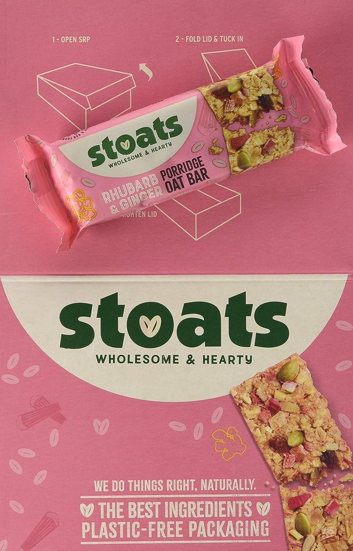 Stoats Rhubarb & Ginger Porridge Oat Bars, 20g Pack of 20 ...