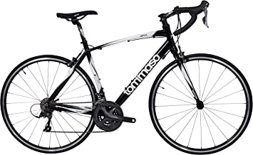 Tommaso Imola Endurance Aluminum Road Bike, Shimano Claris R2000, 24 Speeds, Black, White, Burnt Orange