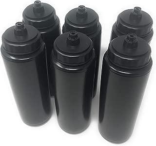 Funiverse 6 x 24oz Plastic Sports Squeeze Water Bottle - Football, Soccer, Baseball, Hockey, Softball, Volleyball …
