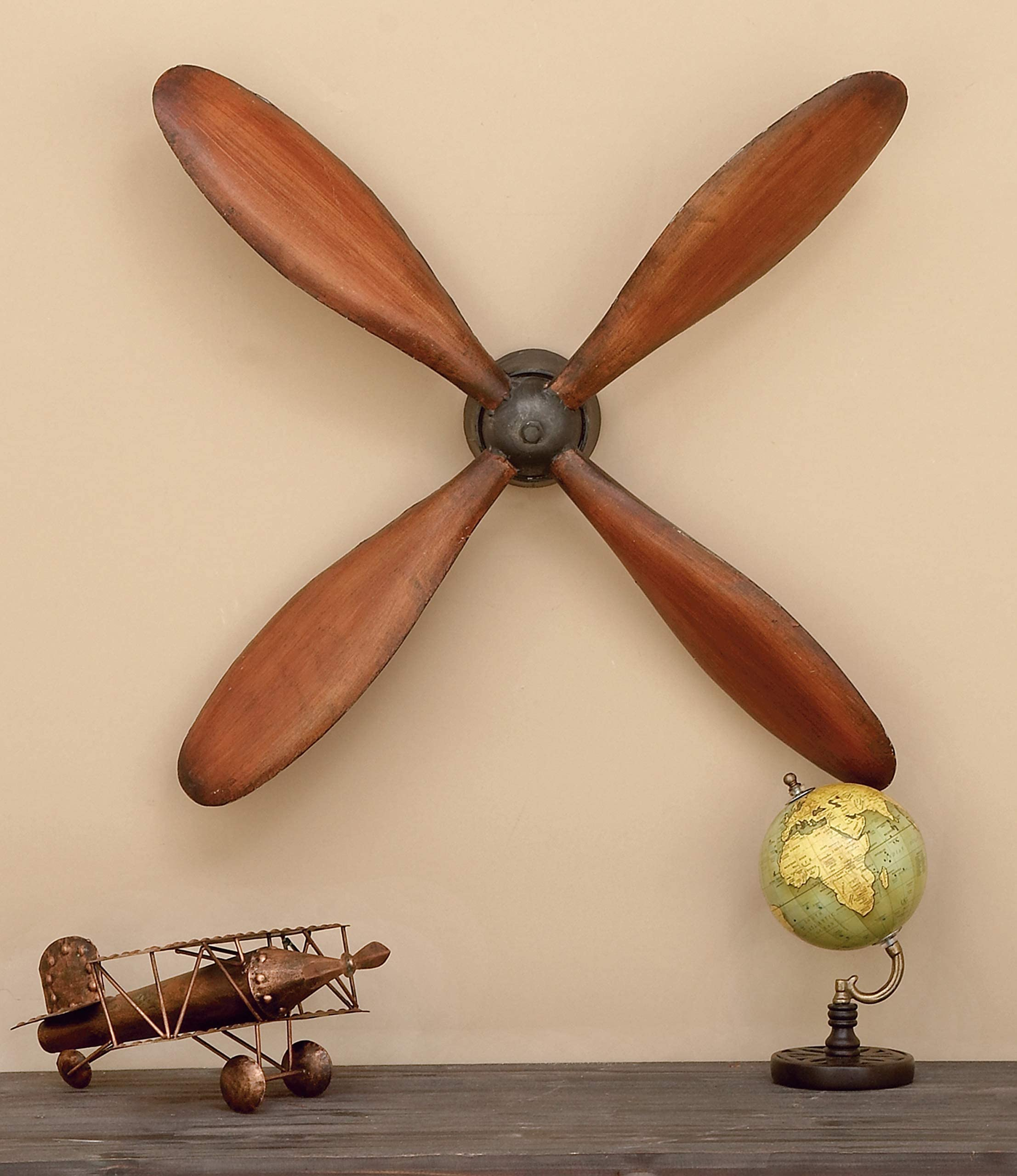 """WWI Airplane Wood Propeller Blade Vintage Aircraft Decorative Wooden Decor 47/"""""""