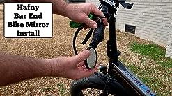 Noir SPRINTECH Road Bicycle Drop Guidon Ten Speed miroirs Paire