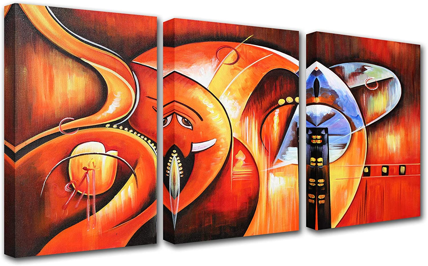 Lord Ganesha Hindu God Canvas Wall Art Living for Room Decor P 3 OFFer free shipping