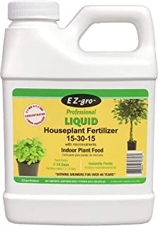 Indoor Plant Food by E Z-GRO 15-30-15 | Liquid Plant Food for Your Indoor Plants | Our Liquid Fertilizer Increases Bud Set in Flowering | Our Indoor Plant Fertilizer has High Phosphorus Level |16 oz