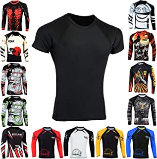 Roar BJJ Rash Guards MMA Grappling Jiu Jitsu Training No Gi Fight Wear Shirt UFC