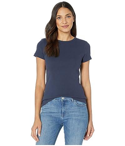 Lilla P 1x1 Rib Short Sleeve Crew Neck T-Shirt