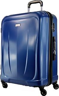 Valise Rigide METZELDER Mineo Extensible Garantie 1 an (Blue (Bleu), M - Medium - 66/78L - 65x40x28 3,7kg)
