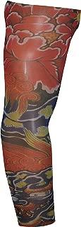 Full Brazo Tatuajes Temporales Falso Fake Tattoo Arm Sleeve Blue Dragon (T104)