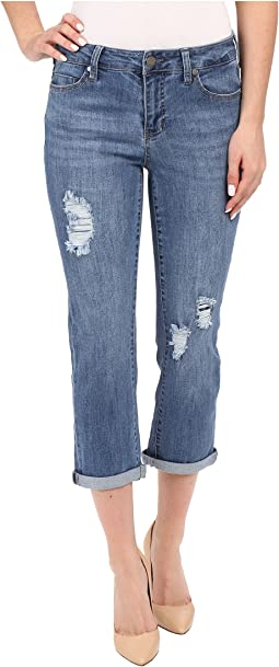 Liverpool Michelle Capris w/ Destruction in Melbourne Light Blue